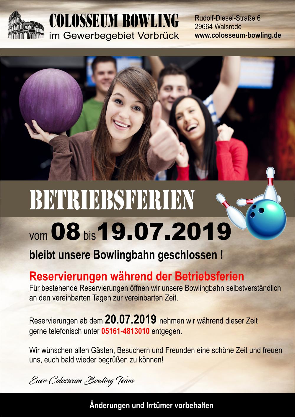 Betriebsferien 2019